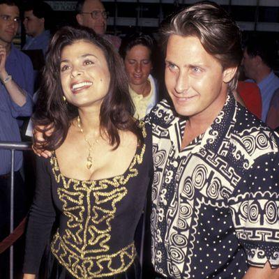<p>Paula Abdul and Emilio Estevez</p>