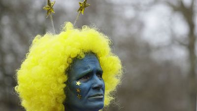Colourful Brexit March: In Pictures