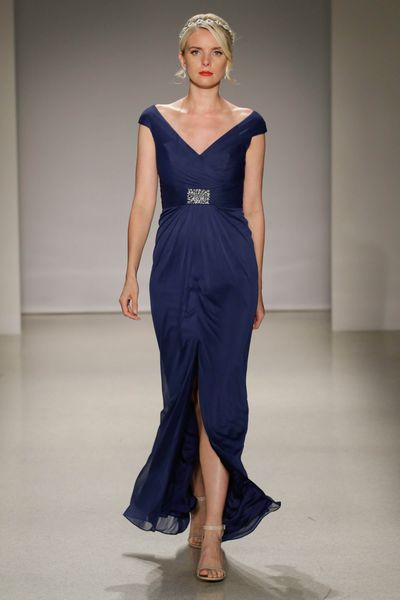 <p>Blue by you</p> <p>A dark blue conveys professionalism and conservatism. The perfect choice, since marriage is a serious business.</p> <p>Alfred Angelo, Spring 2017, New York Bridal Fashion Week with Disney Weddings</p>