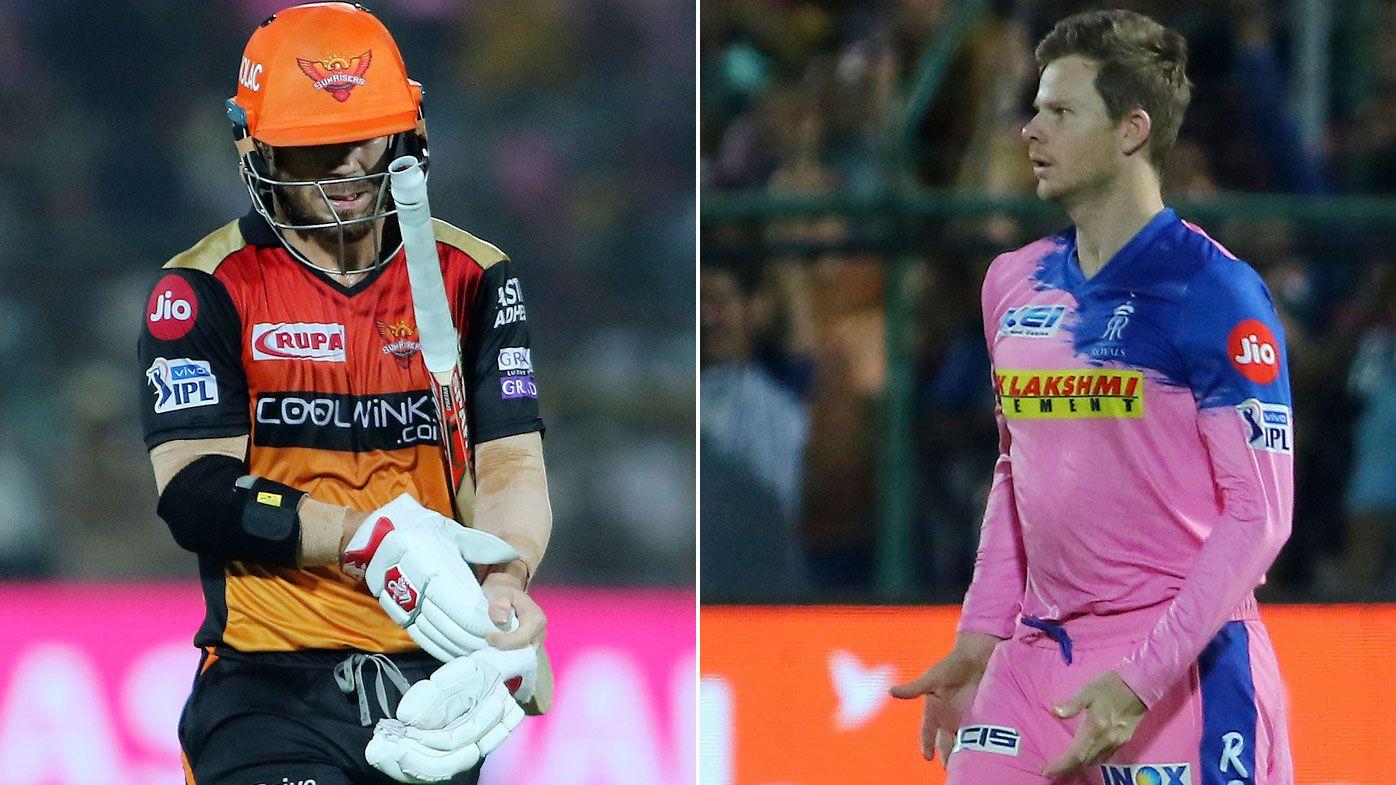 Steve Smith dismisses David Warner with stunning IPL catch as Royals beat Sunrisers
