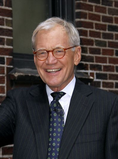 David Letterman appears outside The Late Show with David Letterman at Ed Sullivan Theater on November 1, 2012 in New York City.