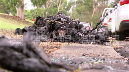The car had been set alight in a deserted industrial estate in Smithfield.
