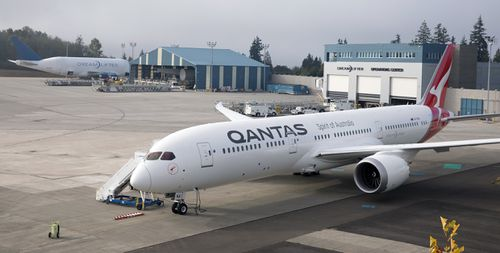 The plane was unveiled in Seattle to much fanfare last year. (AAP)