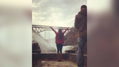 New York couple's picture-perfect proposal