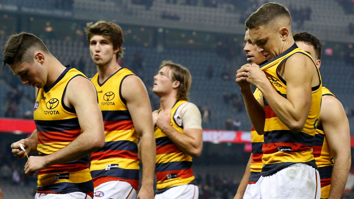 Adelaide held to lowest score in club history in dismal performance against Essendon