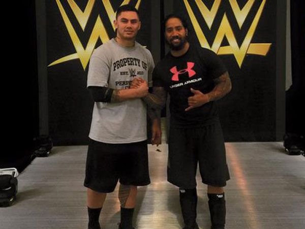 Daniel Vidot at the WWE Performance Center. (Facebook)