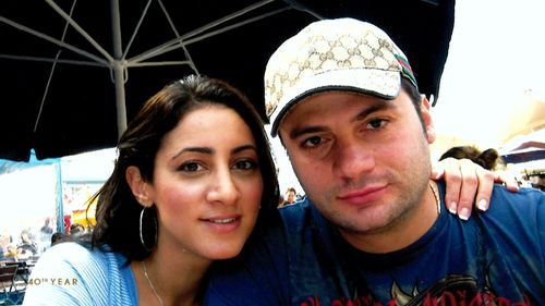 To outsiders Ms Kasparian and her partner of 10 months, Marc Zartarian, appeared to be a happy loving couple.