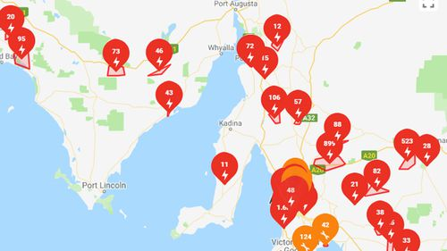 Almost 20,000 South Australian homes without power