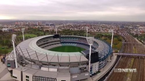 The cars would run high above the MCG.