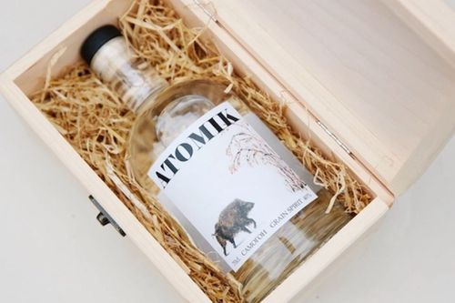 Atomik vodka shipment confiscated by Ukraine secret service.