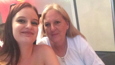 Cass with her mum who has since recovered from breast cancer.