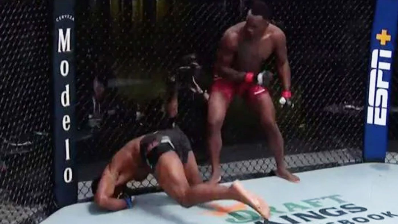 Ovince Saint Preux KO's Alonzo Menifield in brutal face-palm.