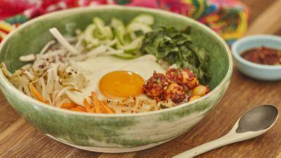 "Recipe: <a href=""http://kitchen.nine.com.au/2017/07/05/14/04/korean-bibimbap-with-macadamia-gochujang-sauce-and-spicy-macadamias"" target=""_top"">Korean bibimbap with macadamia gochujang sauce<br /> </a><br /> More: <a href=""http://kitchen.nine.com.au/2017/04/20/07/17/bowl-food"" target=""_top"">bowl food</a>"