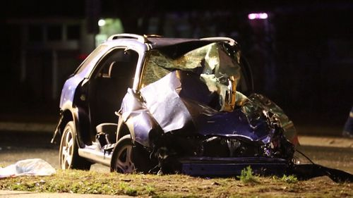 A head on crash at Gladesville has left a family of six hurt, and a young driver fighting for life.