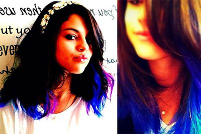 """Selena rocked some purple hair extensions for a while. """"She wanted something a little more spunky, fun and different,"""" said her hair stylist. <br/><br/>"""