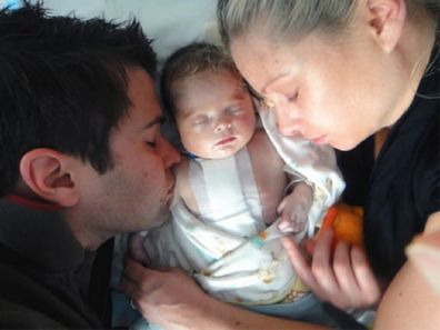 Alisa Camplin with her husband and son Finnan