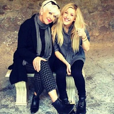 Ellie Goulding and her mother Tracey Goulding.