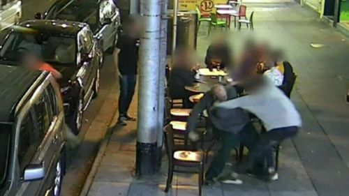 CCTV captured Stephens attacking two people in St Kilda on October 7, 2017. (File image)