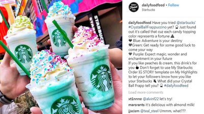 Starbucks launches Crystal Ball Frappuccino