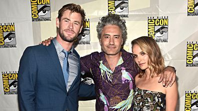Chris Hemsworth, Taika Waititi, Natalie Portman, Comic-Con