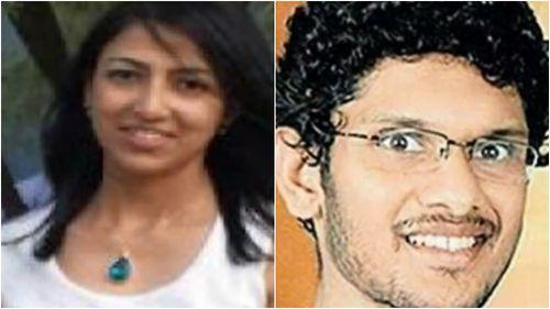 Ms Sam and Mr Kamalasanan are accused of murdering Mr Abraham. (9NEWS)