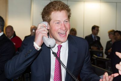 Prince Harry at fundraising day in in London, where he closed a record-breaking trade for 18 billion euros.