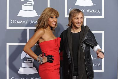 French DJ David Guetta with his wife Catherine.