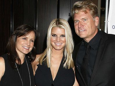 Joe Simpson, Jessica Simpson and Tina Simpson.