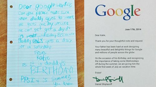 Girl's Google vacation request goes viral