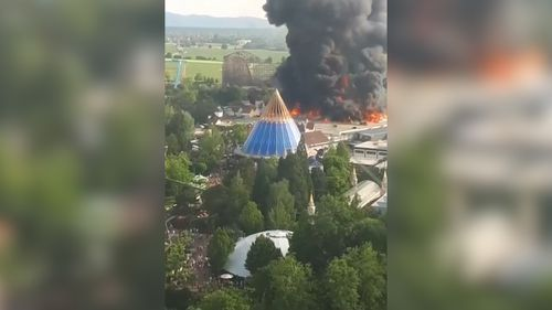 A fire broke out at the popular Europa-Park in Germany's south-west, triggering an evacuation.