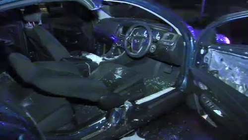 The driver who caused the crash fled on foot until he was tackled by another man. (9NEWS)