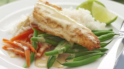 "<a href=""http://kitchen.nine.com.au/2016/05/16/14/01/panfried-fish-with-thai-curry-sauce"" target=""_top"">Pan-fried fish with Thai curry sauce<br> </a>"
