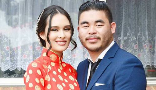 Bronko Hoang, 25, survived the September 28 long weekend crash which killed wife Katherine, 23 who was just a week away from giving birth, as well as his sister Anh, 17, in Orchard Hills, Western Sydney.
