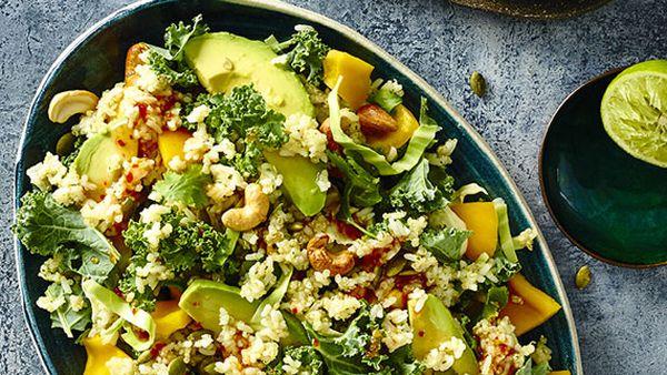 Coconut rice and quinoa salad