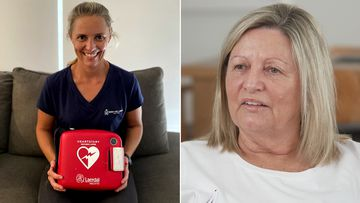 Carly Ryan's decision to take home a defibrillator saved her mother's life.
