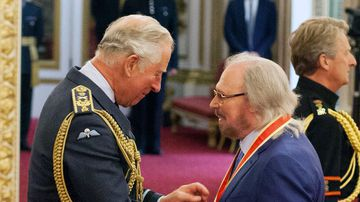 """After being knighted at the palace by Prince Charles on Tuesday, the 71-year-old songwriter said: """"If it was not for my brothers, I would not be here"""". Picture: PA"""