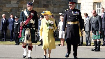 The Queen arrives for the traditional 'Ceremony of the Keys' in Edinburgh, July 2018