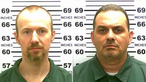 A major manhunt is underway for 34-year-old David Sweat (left) and 48-year-old Richard Matt (right) who escaped from the prison using power tools. (AAP)