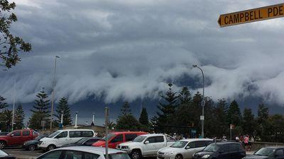 Storms as viewed from Bondi Beach. (Supplied, Jessica Fischer)