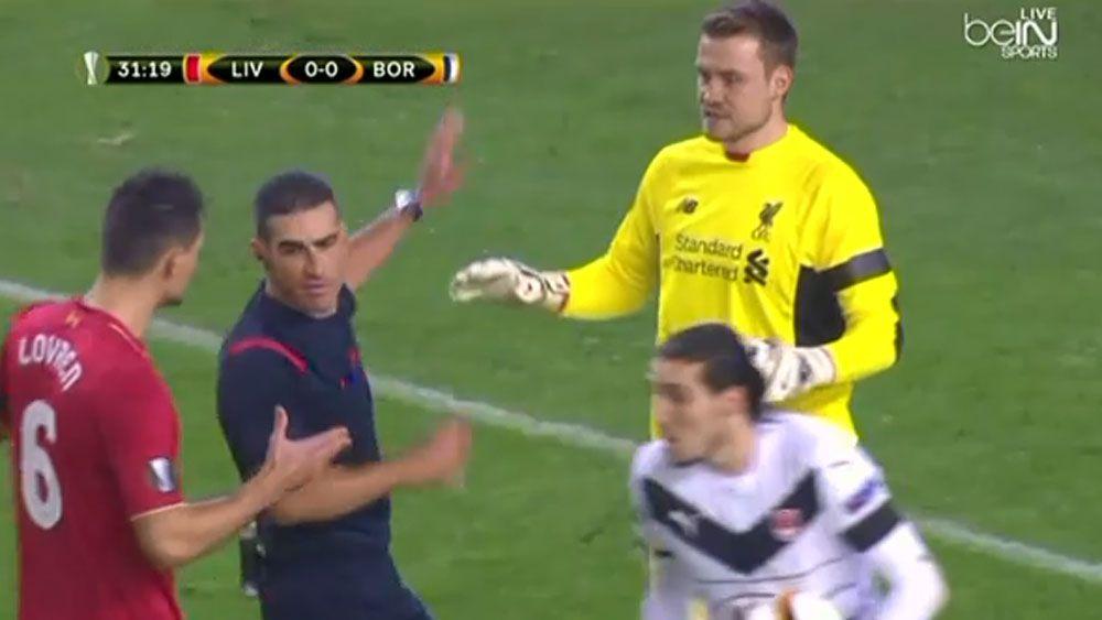 Liverpool keeper concedes embarrassing goal