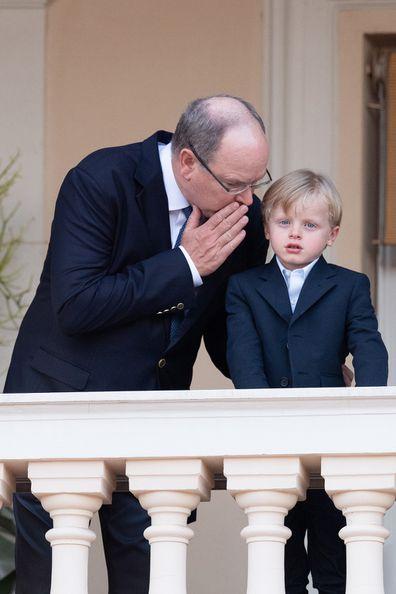 Prince Albert II of Monaco and  Prince Jacques of Monaco attend the Fete de la Saint Jean.