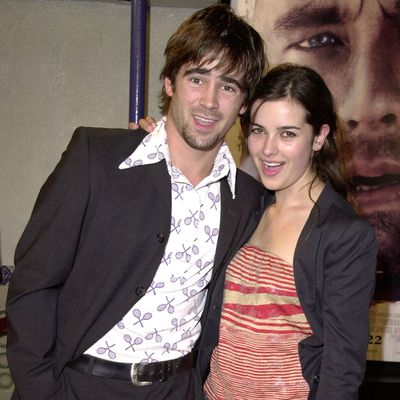 <p>Colin Farrell and Amelia Warner</p>