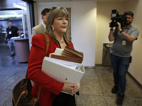 Diane Howard is the public defender enlisted to help DeAngelo's case. Picture: AP