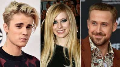 Justin Bieber, Avril Lavigne, Ryan Gosling, related
