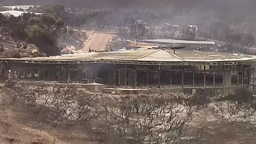The Southern Ocean Lodge was destroyed in an intense bushfire that's been burning since December 20.