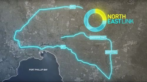 The North East link will cost $16.5 billion.