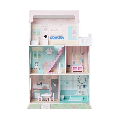 """<a href=""""http://www.kmart.com.au/product/traditional-dollhouse/1537301"""" target=""""_blank"""">Kmart Dollhouse, $79.</a> This traditional wooden dollhouse comes with 13 pieces of furniture."""
