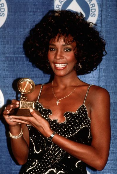 Whitney Houston attends the 30th Annual Grammy Awards circa 1988 in New York City.