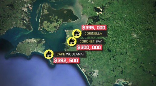 These are the average prices within 100km of Melbourne. (9NEWS)