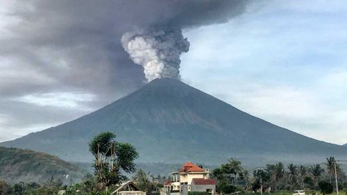 Mount Agung has caused travel chaos for tourists.